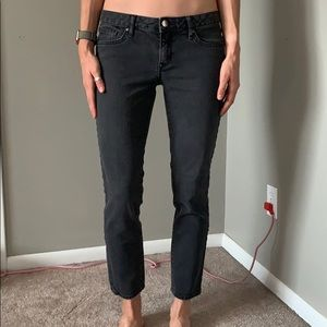 Black Skinny Straight Jeans